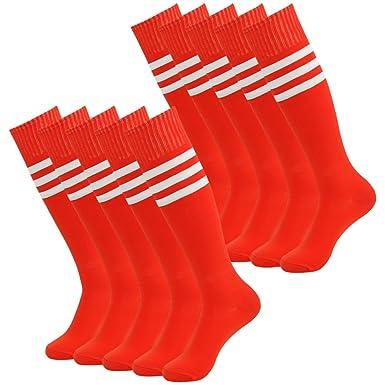 3street- Calcetines atléticos de fútbol con tres rayas,altos ...