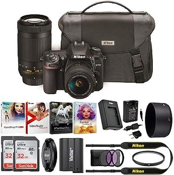 Nikon D7500 cámara réflex Digital con Lentes de 18-55 mm VR y 70 ...