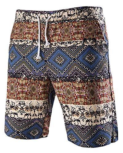 Taille De Floral Bleu Large Plage Homme Imprimé Fuweiencore Pour Short Décontracté coloré paq1xvRw