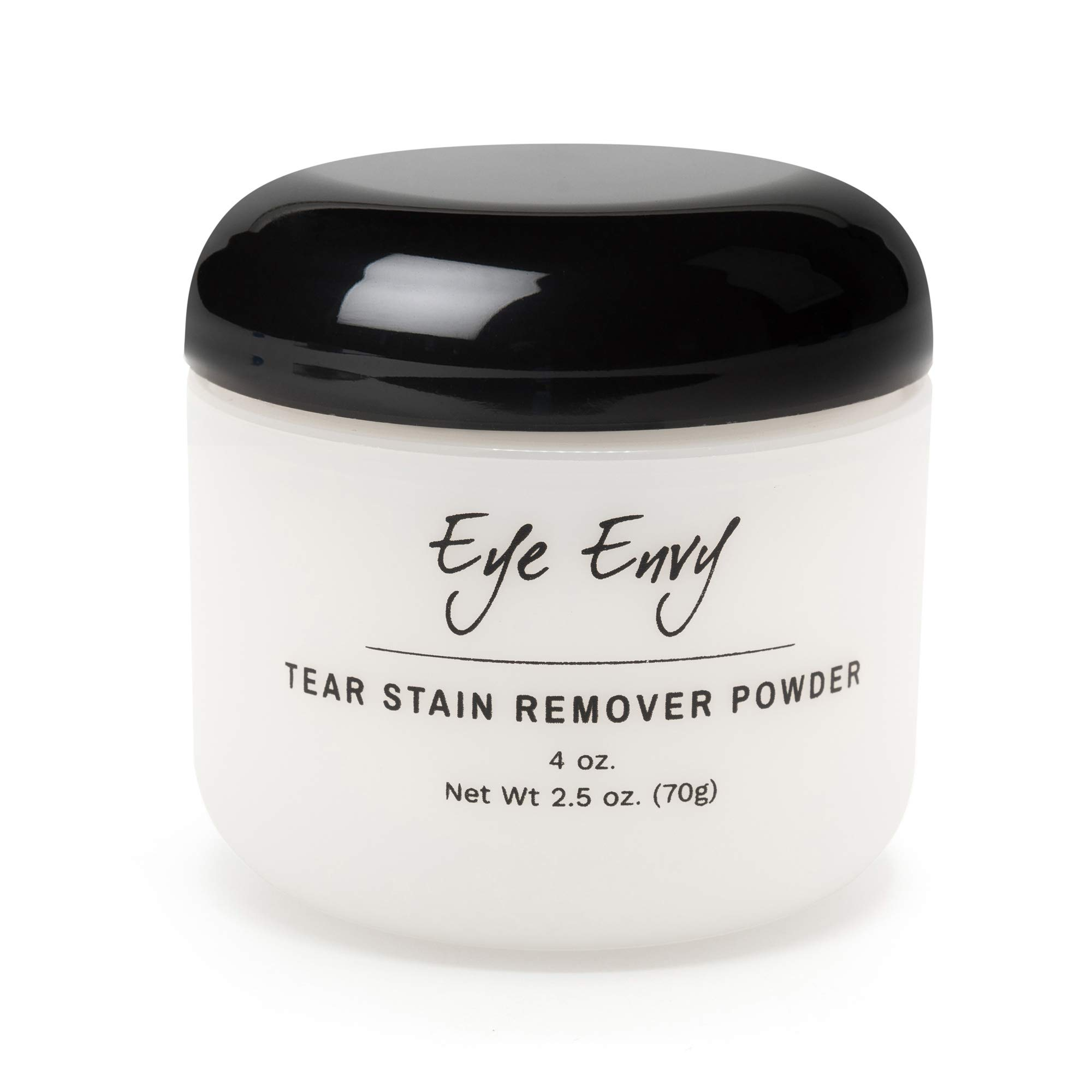 Eye Envy Tear Stain Remover Powder for Dogs and Cats|100% natural, safe|Apply around eyes|Absorbs and repels tears|Keeps area dry|Treats the cause of staining|Effective and non-irritating, 4oz