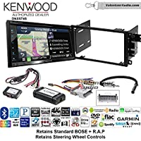 Volunteer Audio Kenwood DNX574S Double Din Radio Install Kit with GPS Navigation Apple CarPlay Android Auto Fits 2003-2005 Chevrolet Blazer, 2003-2006 Silverado, Suburban (Bose and SWC)