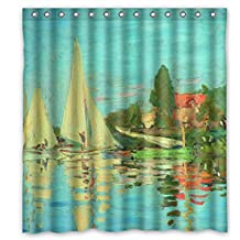 Eyeselect Bathroom Curtains Of Claude Monet Art Painting Polyester Width X Height / 72 X 72 Inches / W H 180 By 180 Cm Best Fit For Father Teens Valentine Mother Couples. Waterproof Mate