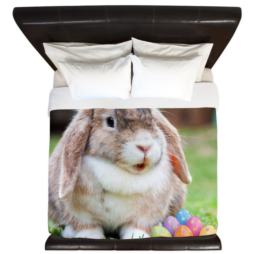 CafePress - Easter Bunny Rabbit - King Duvet Cover, Printed Comforter Cover, Unique Bedding, Microfiber