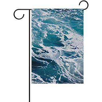Amazon com : Vioceff Deep Blue Ominous Double-Sided Polyester Garden