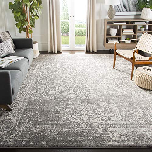 Safavieh Evoke Collection EVK256D Vintage Oriental Grey and Ivory Area Rug (9' x 12') (Target Black Rugs White Area And)