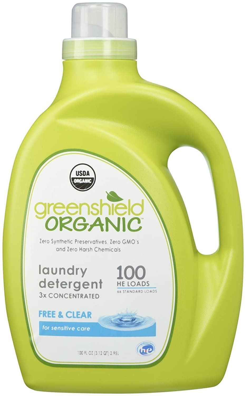 GreenShield Organic, Laundry Detergent, Free & Clear, 100 fl oz (2.95 L) (Discontinued Item) B007C5VEBU