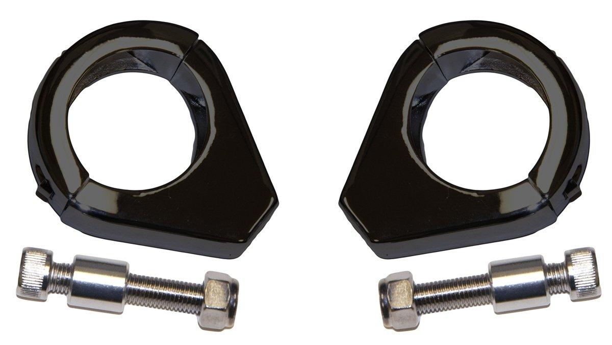 Yana Shiki SRC-299-001-BLK Turn Signal Relocator Clamp for Harley-Davidson All Models with 39mm Fork Tubes Black