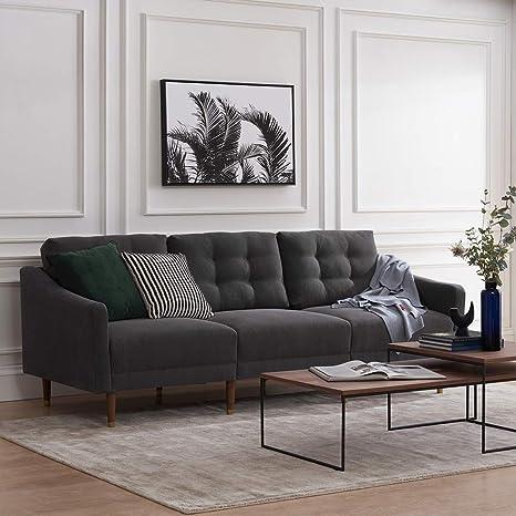 Amazon.com: Mopio Savannah - Sofá moderno de mediados de ...