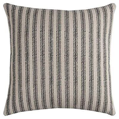 "Rizzy Home T11038 Decorative Poly Filled Throw Pillow 20"" x 20"" Gray - Rizzy Home cushions offer a luxurious feel with a comfortable & warm touch, their modern designs will add a cohesive and interesting look to your design scheme Mix and match these decorative throws in all areas of the home both inside and out including sofa's, chairs, benches, beds, and floors. Add color and texture to any room or outdoor space. This pillows primary color is Gray with a secondary color of Beige - living-room-soft-furnishings, living-room, decorative-pillows - 61jxq%2B5jNfL. SS400  -"