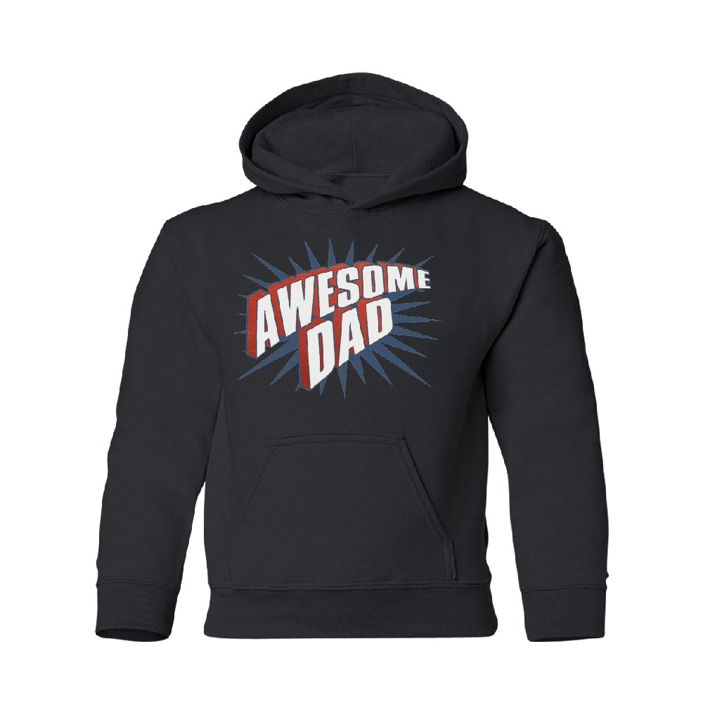 Awesome Dad Father's Day Youth Hoodie Brand New Sweatshirt Black Youth Small