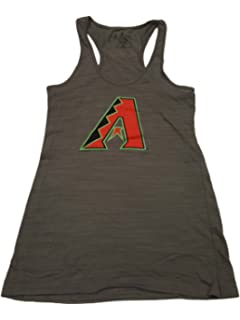 2f72c2eec Soft As A Grape Arizona Diamondbacks SAAG WOMENS Gray Sleeveless Racerback  Tank Top