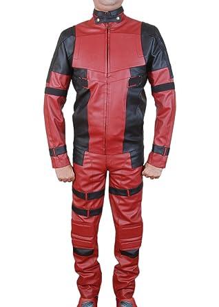 Flesh & Hide F&H Mens Deadpool Ryan Reynolds Genuine Leather Jacket