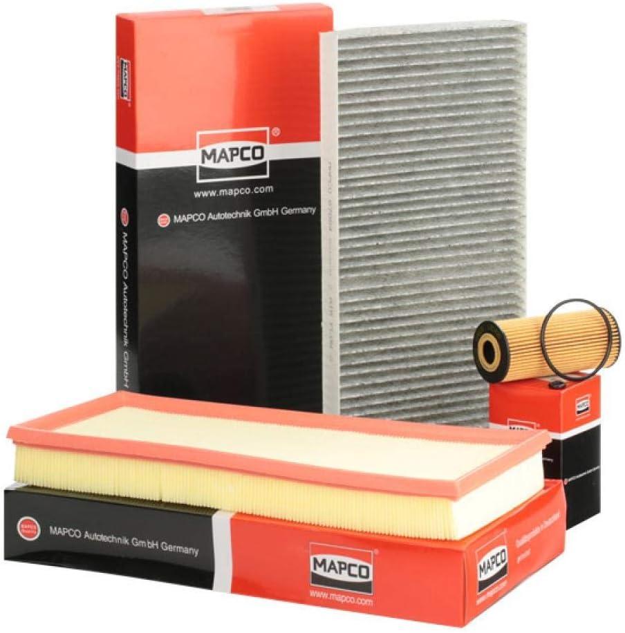 Mapco 68884 Filtersatz Ölfilter Luftfilter Pollenfilter Auto