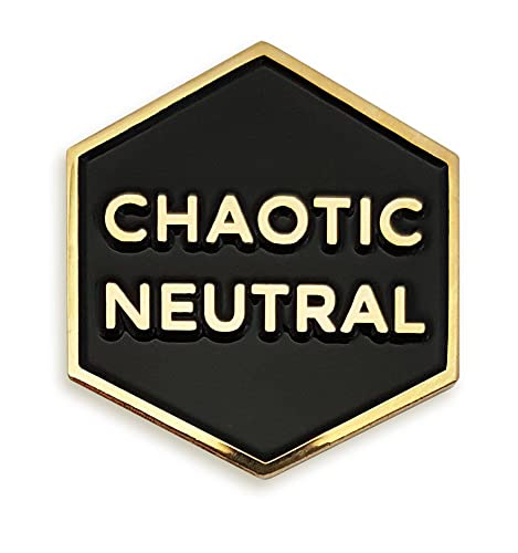 Amazon Com Pinsanity Chaotic Neutral Enamel Lapel Pin Jewelry