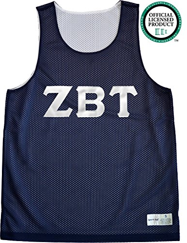 ZETA BETA TAU Unisex Mesh ZBT Tank Top. White Sewn Letters, Various Colors