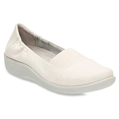 Womens Shoes Clarks Sillian Sune White Linen