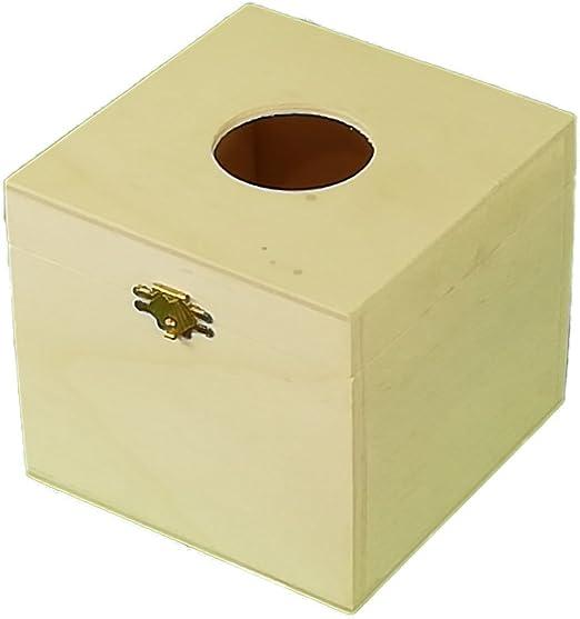 Caja algodones. Caja pañuelos. En madera de chopo natural. Se ...