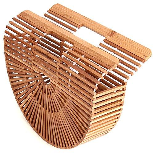 HT - Bolso al hombro para mujer bambú