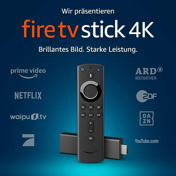 Fire TV Stick 4K Ultra HD mit der neuen Alexa-Sprachfernbedienung