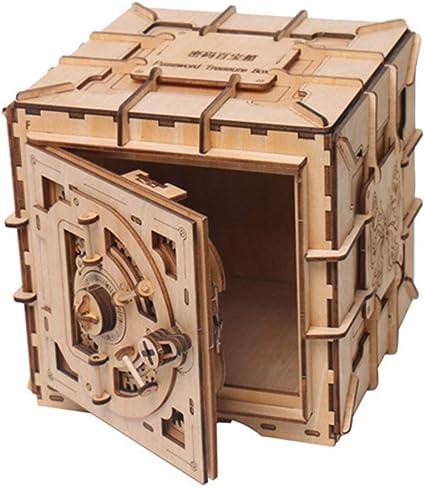 Lhcar Cifrado Código Caja de depósito Rompecabezas 3D Mecánico ...