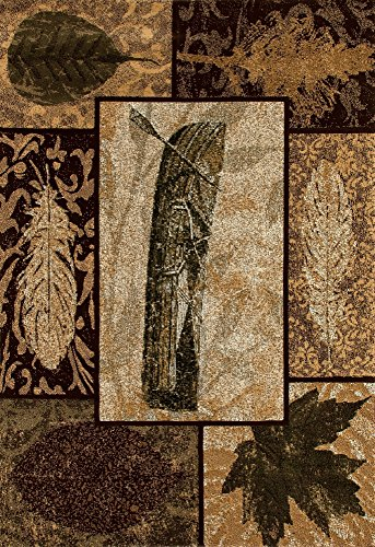 - Art Carpet Cabin Collection Birch Bark Woven Contemporary Area Rug, 9