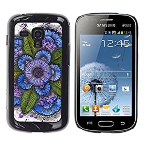 MOBMART Carcasa Funda Case Cover Armor Shell PARA Samsung Galaxy S Duos S7562 - Bold Paintings Of A Flower