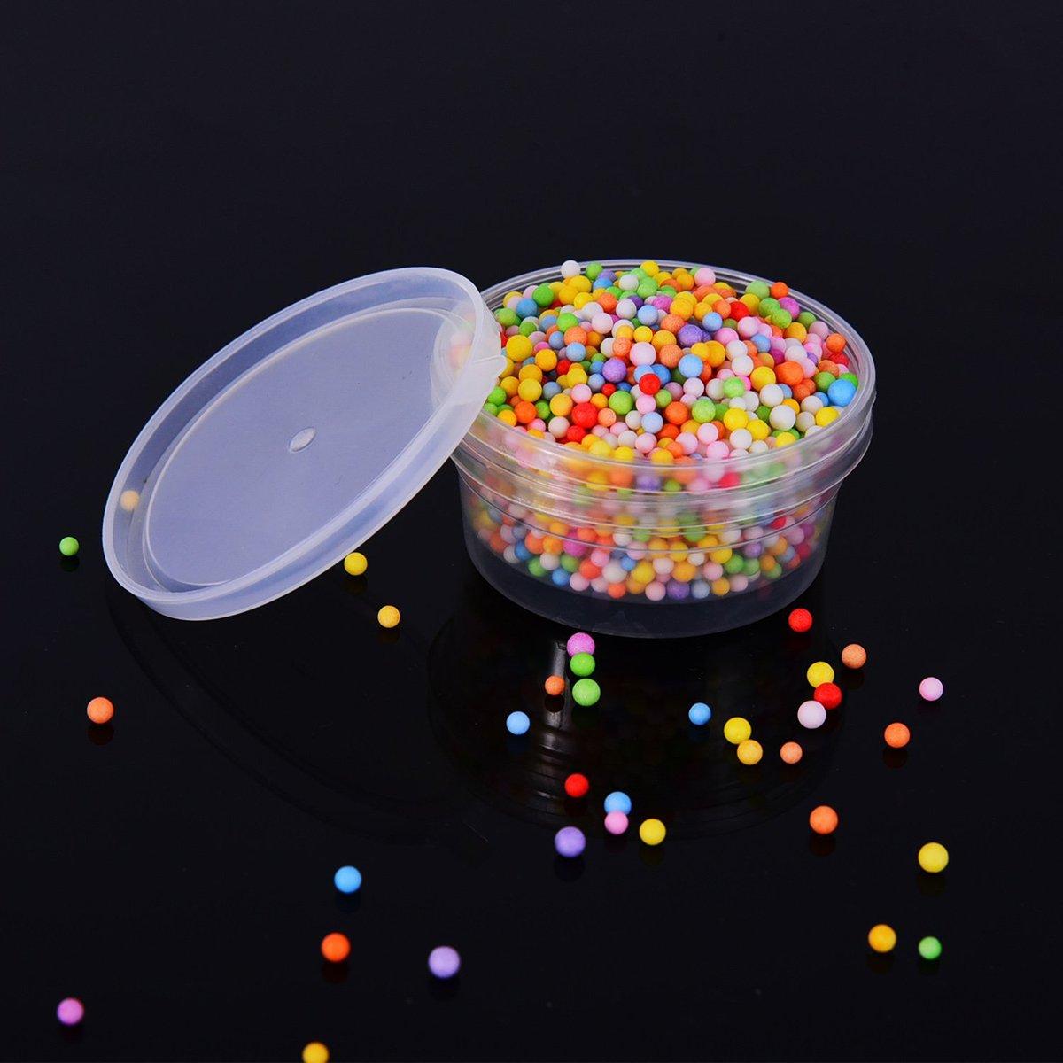 mit Deckel Knete Ultnice kleine Plastikbeh/älter zur Aufbewahrung von Kunststoff-Kugeln Kunstschleim 15 St/ück f/ür je 20/g Knetmasse