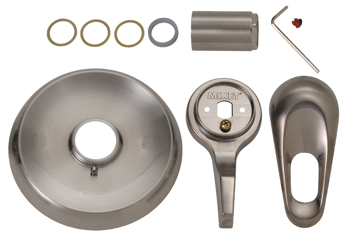 BrassCraft SKD0201 D Mixet MTR-5 CLR SN COMPLETE Single Handle Tub and Shower Trim Kit with Old Style Handles PVD Satin Nickel