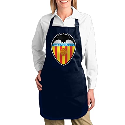 cheenn Unisex lienzo Valencia de la UEFA Logo barbacoa delantal