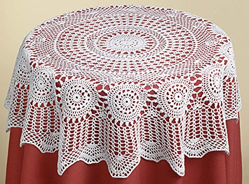 "Annie's Treasures Table Topper All Crochet 36"" Square Ecru"