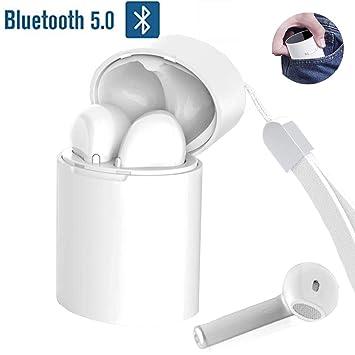 f9a6049c9cf Auriculares Cascos Inalámbricos 5.0 Bluetooth, PETHREE X10-TWS Stereo Manos  Libres Deportivo Bluetooth Auriculares con Microfono CVC 6.0, Sin Cable ...
