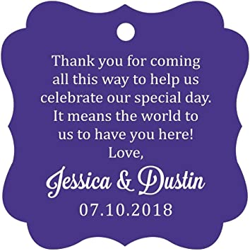 Personalized Gift Tags Personalized Wedding Tags for Party Favors Customizable Thank You Gift Tags