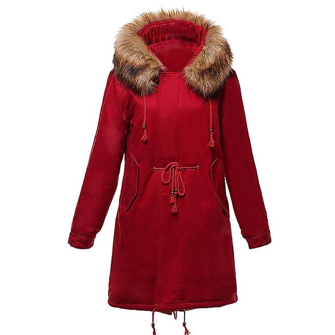 Chaqueta Lana Mujeres Invierno Invierno Moda Abrigos Mujer Caliente UxA44q