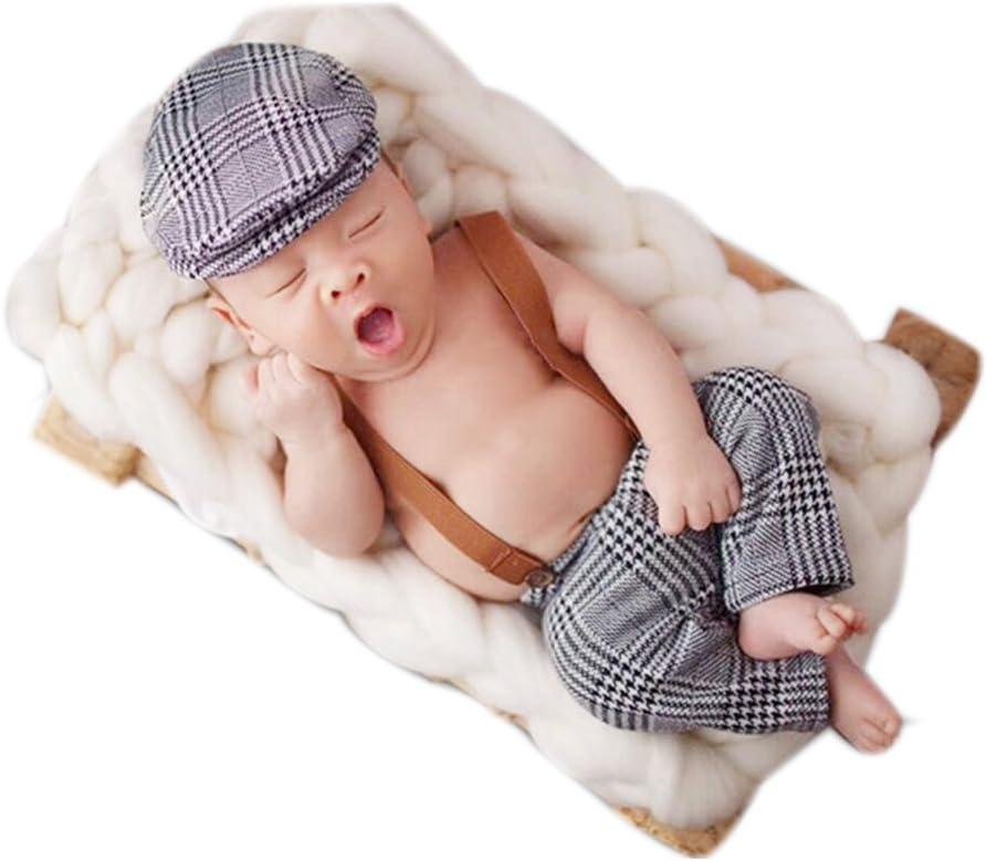 Neugeborene Baby Fotografie Foto St/ützen Junge M/ädchen Kost/üme Outfits Kleidung Niedlichen Cap /& Strampler