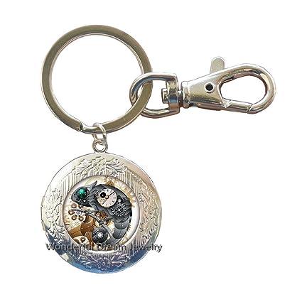 Llavero con forma de campana de cristal de lagarto de ojo ...