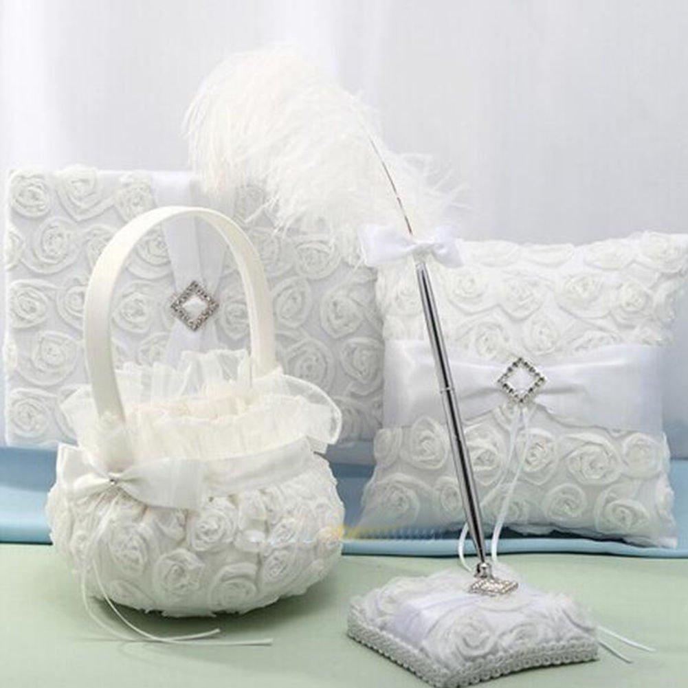 Agordo Wedding Flower Girl Basket Party Basket for Wedding Birthday Ceremony Decoration