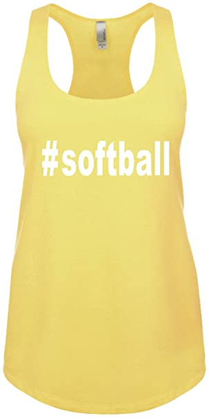 dd238b4f9231a Signature Depot Junior s Funny Tank Top Size S ( Softball (Hashtag Tee  Shirt)
