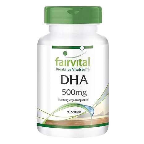 DHA 500mg - Hautement dosé - 90 gélules - Acide docosahexaénoïque et acide  eicosapentaénoïque - ! 617112d05c1