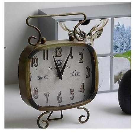 Reloj de Escritorio Vintage Redondo Pequeño Reloj Despertador ...