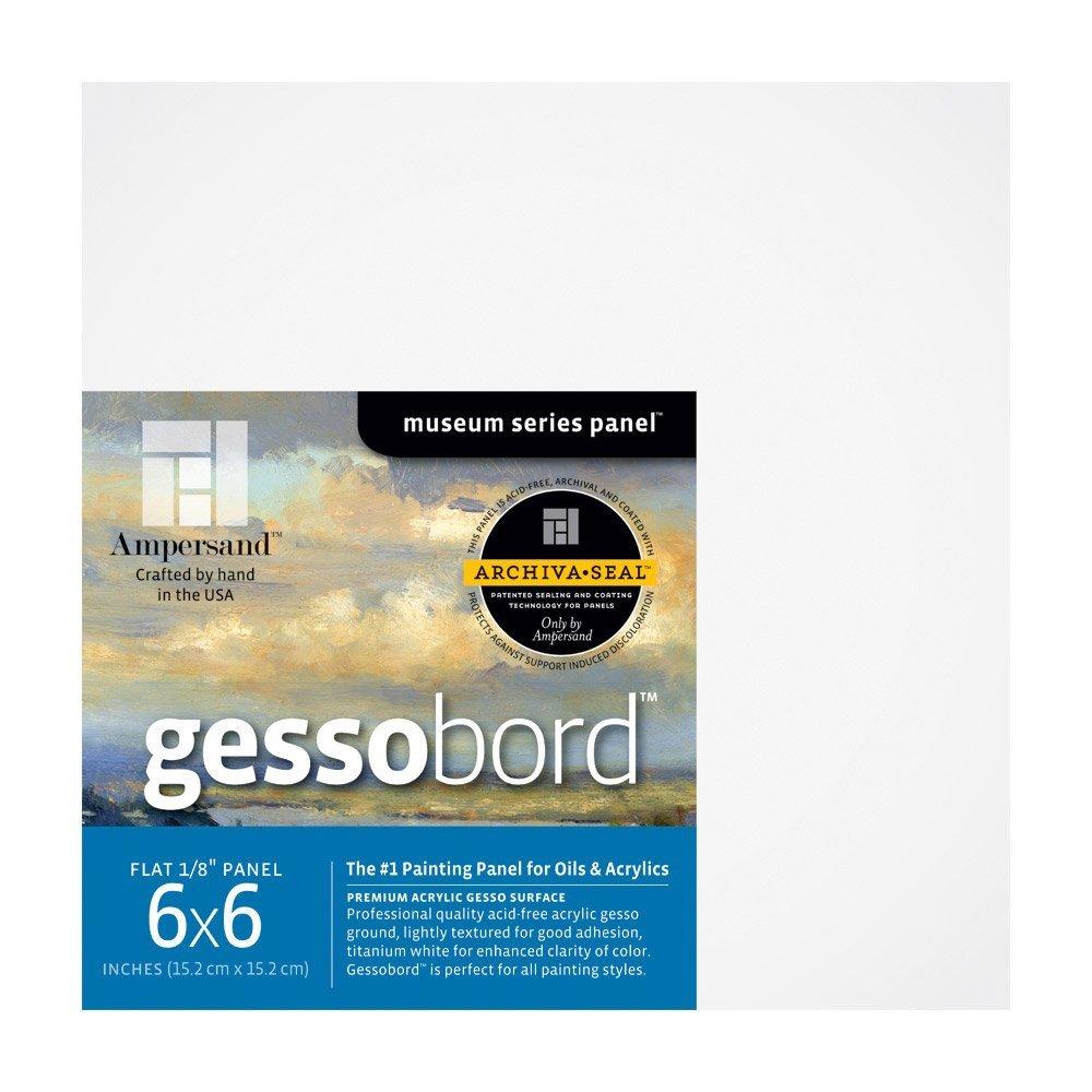 Ampersand Art Gessobord Uncradled 1/8 Profile 6 x 6 4/Pkg MACPHERSON 4336944591 AV-GBS066