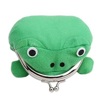 Naruto Cute Green Frog Coin Bag Wallet Purse Cosplay Anime Plush Toy Funny: Toys & Games