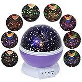 Pinron Star Moon Sky Projector Latest Night Light Projector LED Lighting Lamp Christmas Decor Romantic Room Love Bedroom for Kids Children