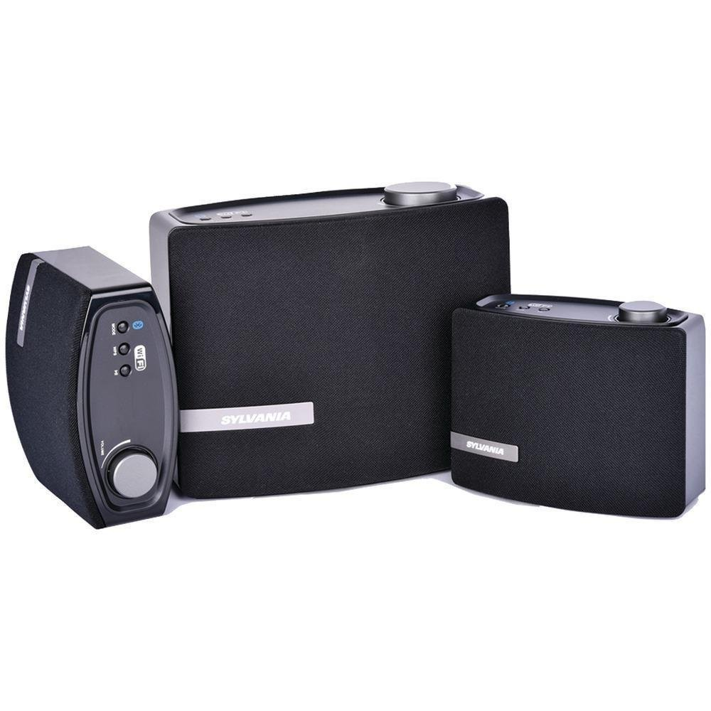 Sylvania SP5752 Wi-Fi Multi Room 2.1ch speaker system for Whole Home (Sonos style), also supports Bluetooth, Black