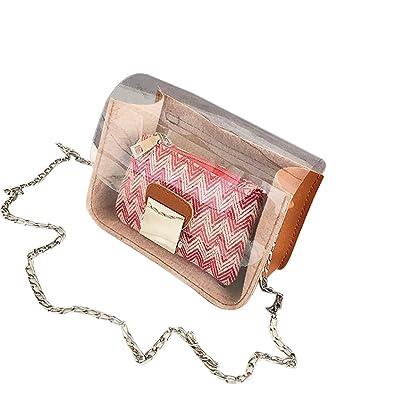 Pequeño bolso de hombro con complemento para cosméticos.