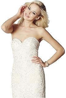 Tiffanys Illusion Prom Champagne Blondie Lace Net Fishtail Dress