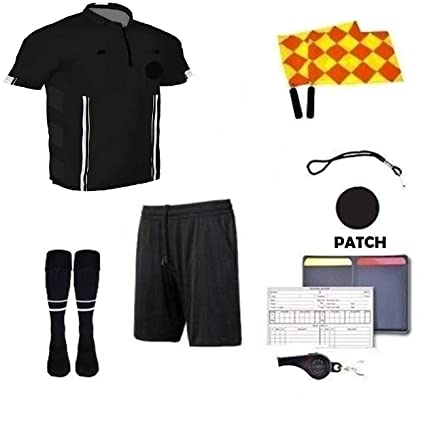 c986ac3dc82 Amazon.com  One Stop Soccer Premium Referee 9 Piece Package  Sports ...