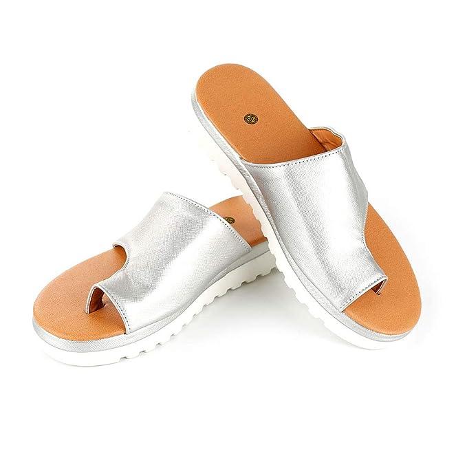 WMFL Férulas de juanete,Zapatos de Mujer cómodos con Sandalias de Plataforma con función de Corrector de juanetes,Plataforma de Apoyo Big Toe Hallux Valgus ...