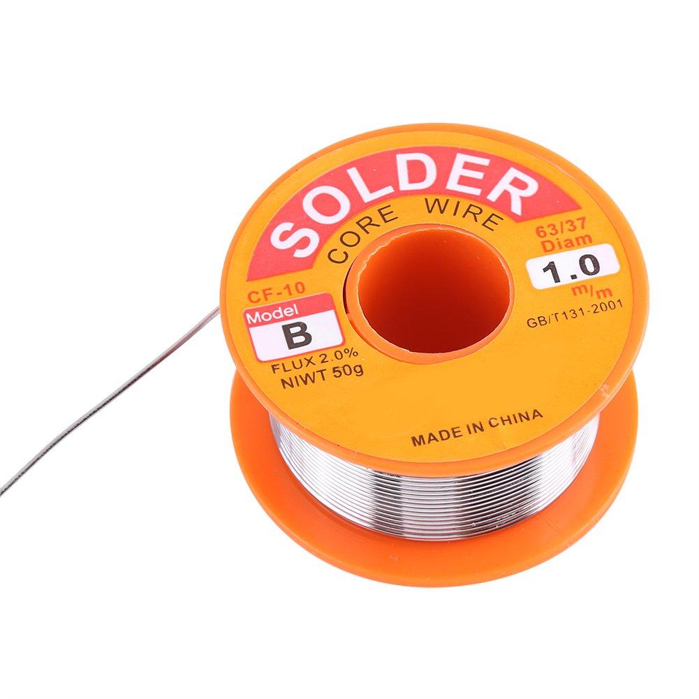 Alambre de soldadura, núcleo de rosina 63/37, flujo de alambre de soldadura, 2% estaño, soldadura de hierro, carrete de alambre de soldadura (0,6/0,8/1,0 mm ...