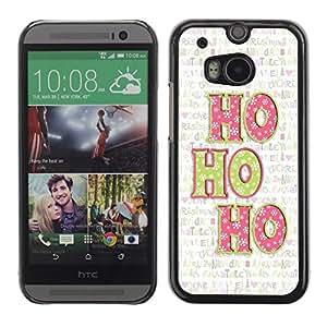 Caucho caso de Shell duro de la cubierta de accesorios de protección BY RAYDREAMMM - HTC One M8 - Christmas Xmas Holiday Winter Text