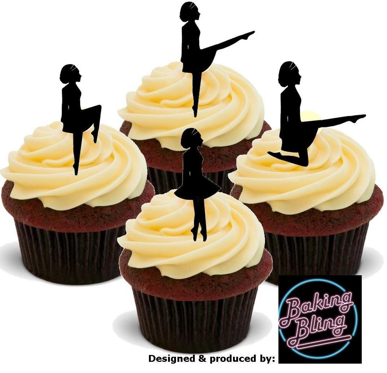 12 x Irish Dancer Dancing Silhouette Mix - Fun Novelty Birthday ...